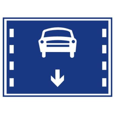 机动车车道标志
