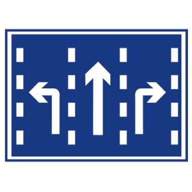 分向行驶车道标志