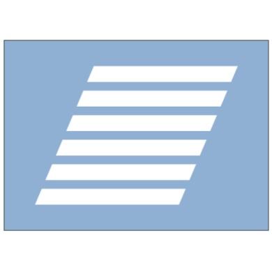 人形横道线(斜交)标志