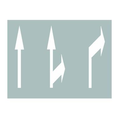 行车速度在60-80km/h时的导向箭头标志