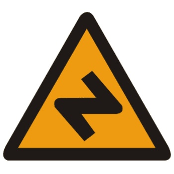 反向弯路标志
