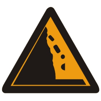 注意落石标志
