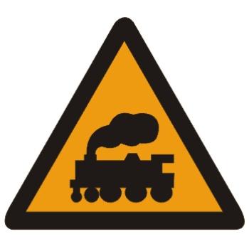 无人看守铁路道口标志