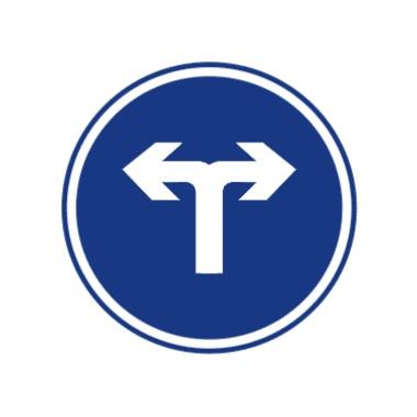 向左和向右转弯标志