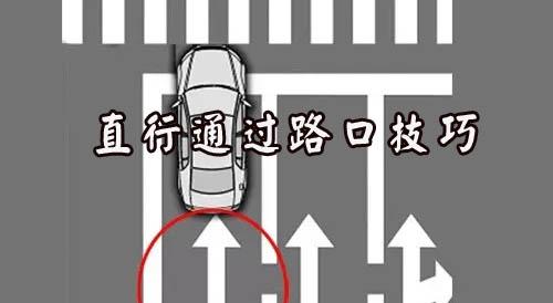 直行通过路口